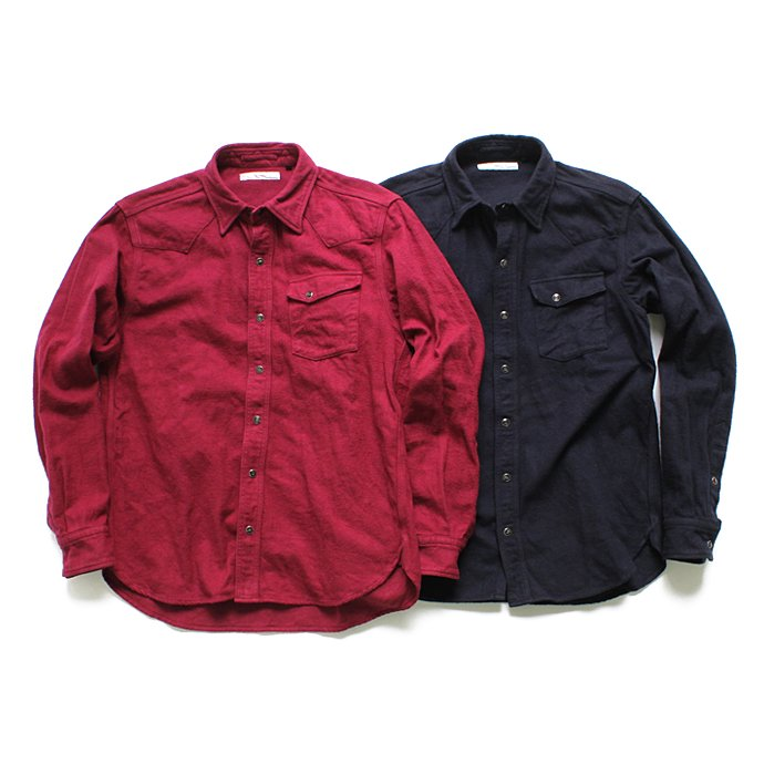 86969148 Hexico / Flannel Western Shirts フランネル ウエスタンシャツ - Over Dye Wash(全2色) 01
