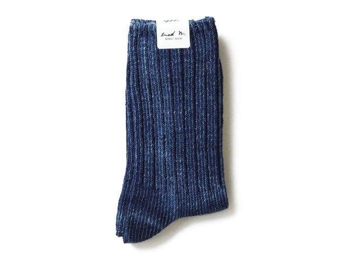 88770636 Trad Marks / Indigo Rib Socks インディゴ リブソックス 02