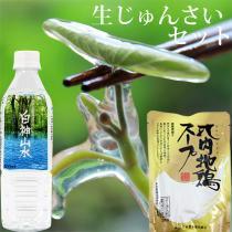 生じゅんさい500gセット【比内地鶏スープ・白神山水・ゆずタレ付き】