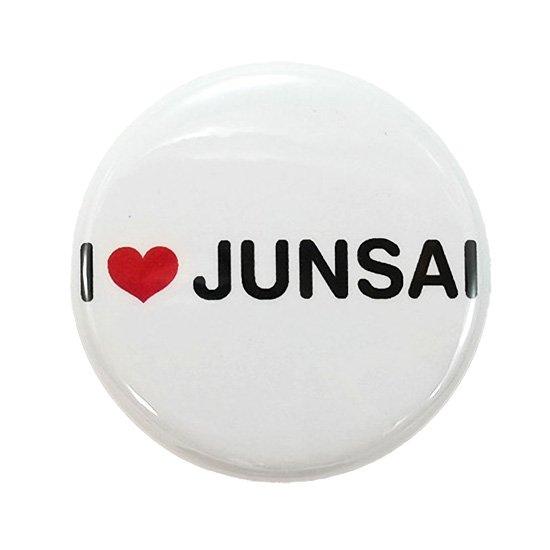 じゅんさい缶バッジ「I LOVE JUNSAI」