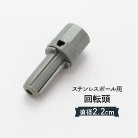 のぼり ステンレスポールキャップ 22mm 普通サイズのぼりポール用 直径(Φ)22mm 回転頭 消耗品