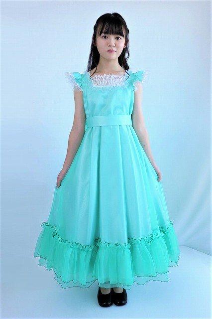 【アウトレットドレス】フリフリゴージャスグリーンドレス