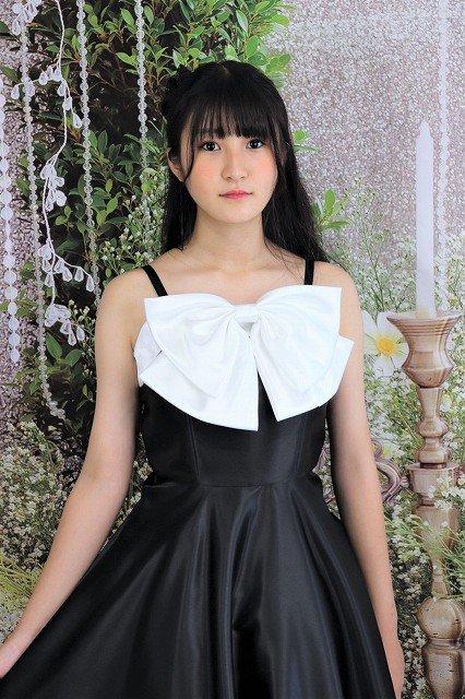 【アウトレットドレス】白い大きなリボンのブラックドレス
