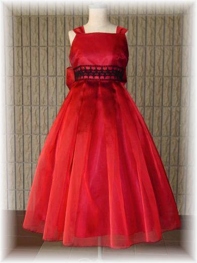 深い赤のシックなドレス 【オーダーのみ】