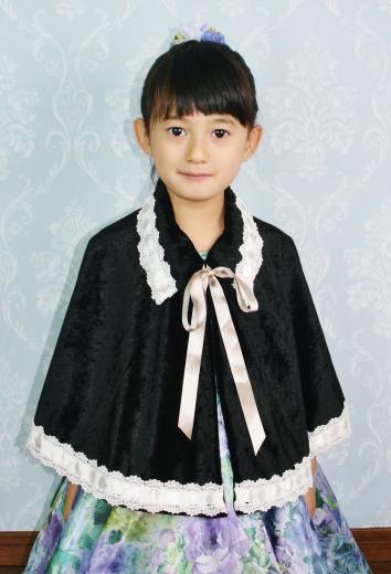 No1211上品な子供ケープ(ブラック)