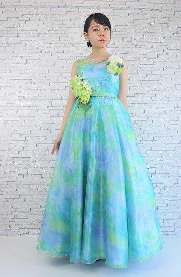 マーブルグリーンドレス