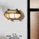 ビーチハウスオーバルシェードウォールランプLED電球付属