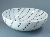 九谷青窯 雨粒 7寸鉢