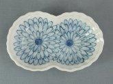 九谷青窯 菊 双子型皿