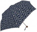 折りたたみ傘 たんぽぽとシロツメクサ(ネイビー)