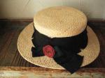 Barairo no Boushi/バラ色の帽子 ダメージリボンカンカン帽/L-4384 (クロ)