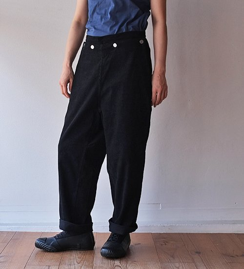 TUKI type-3 12wale corduroy Pants BLACK