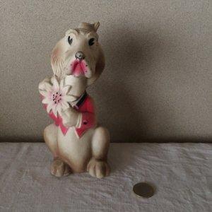 ベルギー 犬 ビンテージ ラバードール 犬の支配人 bergium vintage squeaky toy dog