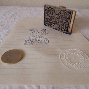 アメリカの古い教材ハンコ ピエロ usa vintage stamp seal clown