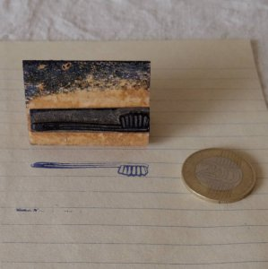 アメリカの古い教材ハンコ 歯ブラシ usa vintage stamp seal tooth brush