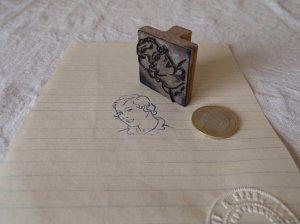 アメリカの古い教材ハンコ お母さん usa vintage stamp seal mother
