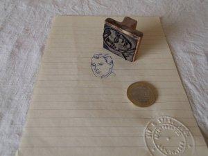 アメリカの古い教材ハンコ お父さん usa vintage stamp seal father