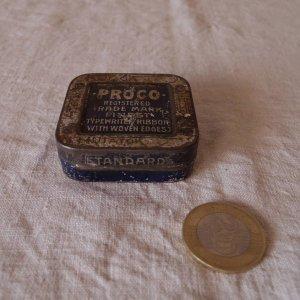 PROCO社 タイプライター リボンの缶 カン ティン proco typewriter ribbon vintage tin