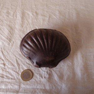 ハンガリー 貝のレザー アクセサリーケース hungary lether case shell vintage