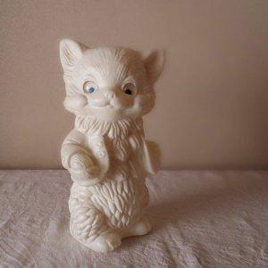 ハンガリー プラスチック ドール ビンテージ  白い猫 hungary vintage plastic doll white cat