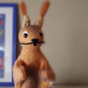 チェコ パペット(手人形) リス czech puppet squirrel vintage