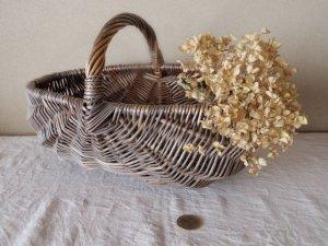 ハンガリー 果実収穫カゴ 編み 楕円 小さめ バスケット カゴ バッグ hungary fruit wicker basket oval small