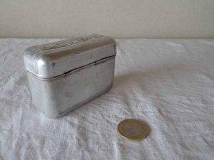 ハンガリー アルミ ソーダカートリッジ ティン ボックス 小・hungary aluminum tin soda cartridge box small
