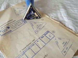 ハンガリー 医療系ハンコ 1 三角 hungary stamp medical triangle 1