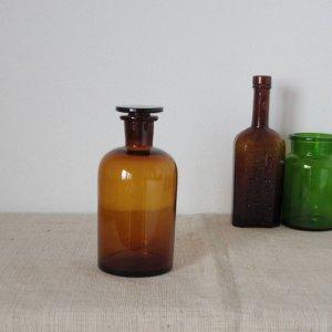 ドイツ 医療系 薬瓶 大 ブラウン Germany medicine bottle brown big