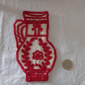 ハンガリー 刺繍 イーラーショシュ 水指し タペストリー L Hungary irasos jug