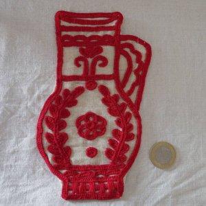 ハンガリー 刺繍 イーラーショシュ 水指し タペストリー R Hungary irasos jug
