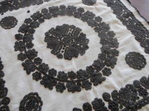 ルーマニア 刺繍 イーラーショシュ テーブルクロス タペストリー 正方形 黒 Romania irasos cloth black