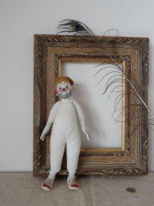 オーストリア ピエロ 陶器のピエロ austria vintage ceramic pierrot crown doll