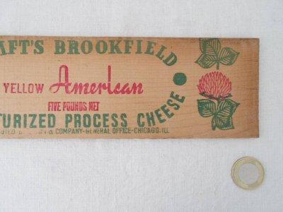 アメリカ チーズボックス デッドストック ボード USA cheese box board headstock