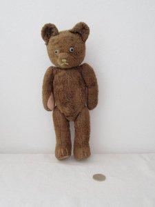 ハンガリー テディベアー プラスチックアイ グロウラー ブラウン 3 hungary teddy bear old vintage growler brown