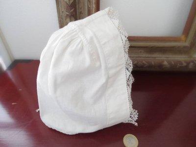 ハンガリー ビンテージ パローツ地方の レースのボンネ 帽子 民族衣装 Hungary Paloc folklore hat cap white