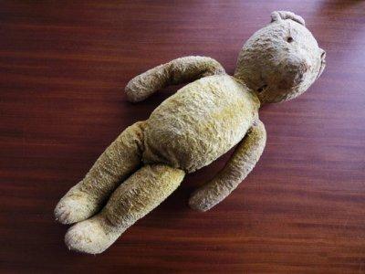 ハンガリー テディベアー くったり 大きな子 プラスチックアイ グロウラー  hungary teddy bear big growler plastic eyes