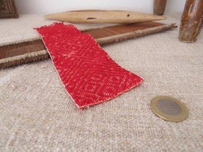 スウェーデン アンティーク バンド織り ハギレ Sweden band weaving antiques ribbon