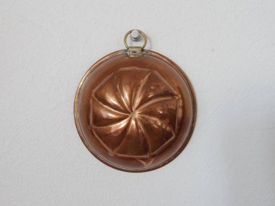 銅 焼き菓子型 ドーム 1・Copper Mold Mould small dome