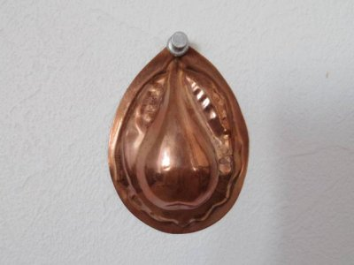 銅 焼き菓子型 小 洋梨 1・Copper Mold Mould oval small pear