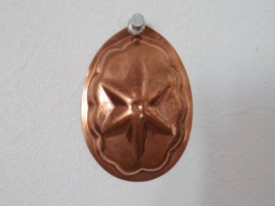銅 焼き菓子型 小 星 1・Copper Mold Mould oval small star