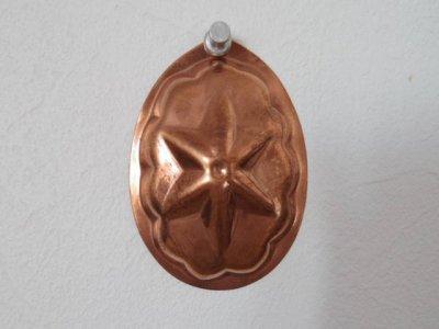 銅 焼き菓子型 小 星 1・Copper Mold Mould oval small star