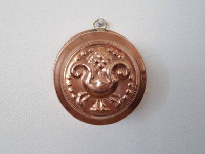 銅 焼き菓子型 中 深 アザミ アーティチョーク 1・Copper Mold Mould small thistle artichoke