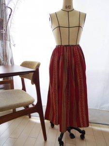 ザクセン人 アンティーク エプロン 民族衣装 Saxony Folklore costume apron red