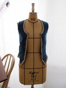ハンガリー アンティーク ベルベット ベスト 民族衣装 Hungary velvet blue vest