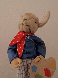 ドイツ 50's ビンテージ イースター ペインティング バニー Vintage German Kersa Bunny Rabbit Palette easter