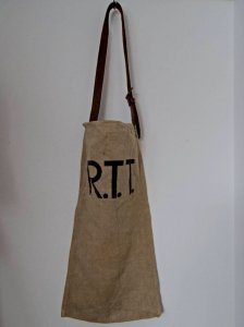 ベルギー R.T.T. ロゴ ヘンプ リネン ビンテージ バッグ  Bergium remake bag vintage logo print bag hemp linen