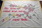 チェコ蚤の市 ハンドメイド 刺繍タペストリー・Antique handmade tapestry embroidery Czech Republic