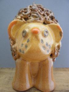 ハンガリー現代陶芸作家「Kovacs Gyula」さん ライオン・hungary porceline pottery ceramic artist lion