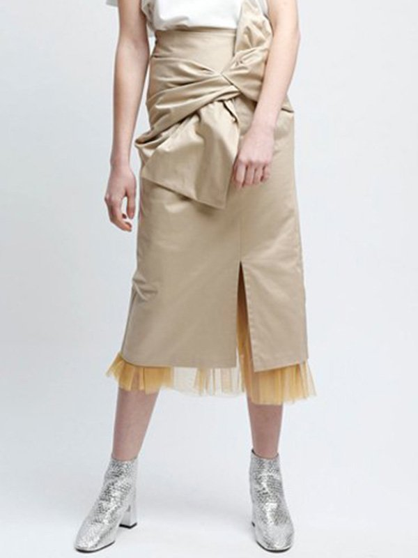 [UN-SOPHIE]リボンチュールスカート